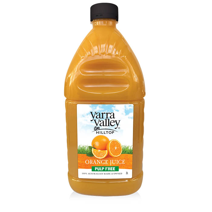 Yarra Valley Hilltop Orange Juice Pulp Free 2L