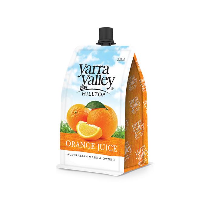 Yarra Valley Hilltop Orange Juice 200ml pouch