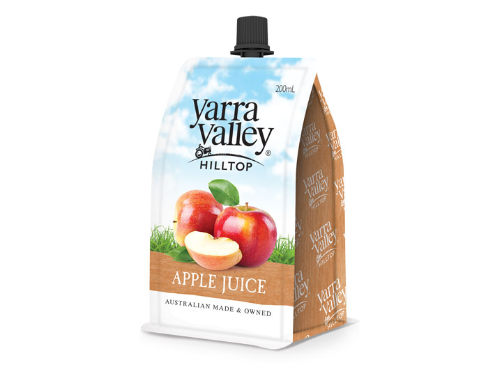 Yarra Valley Hilltop Apple Juice 200ml pouch